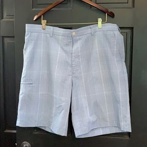 Grand Slam blue plaid golf shorts 40